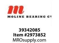 Moline Bearing 39342085 SPLIT E 1000 4-BOLT PILLOW BLOCK 85MM SPLIT E1000 4BPB EXP W/CARTRG ASSY