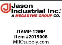 Jason J16MP-12MP ADAPTOR MALE NPT X MALE NPT
