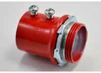"Bridgeport 233-SR 1-1/4"" RED set screw EMT connector"