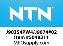 NTN J90354PW4/J9074#02 TAPERED ROLLER BEARINGS MEDIUM SIZE TAPERED ROLLER BRG