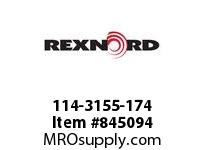 REXNORD 114-3155-174 ATCH WHT8500 F.25 N1.5 BT