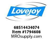 LoveJoy 68514434074 SF BUSHING 3/4 3/16X3/32KW