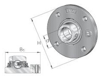 INA TME25 Four-bolt piloted flanged unit