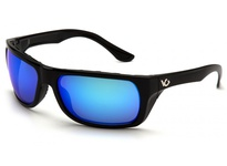 Pyramex VGSB965T Vallejo Black Frame/Ice Blue Anti-Fog Lens Vallejo exceeds ANSI Z87.1 High Impact Requirements