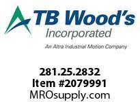 TBWOODS 281.25.2832 VARITORK CLUTCH 25 8MM--10MM