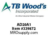 TBWOODS AD20A1 CLAMP HUB AD20-A 1.00 DIA 1/4