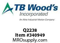 TBWOODS Q2238 Q2X2 3/8 ST BUSHING