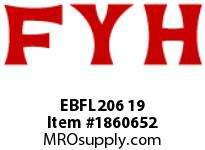 FYH EBFL206 19 FLANGE UNIT-NORMAL DUTY SETSCREW LOCKING-ECONOMY SERIES