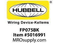 HBL_WDK FP075BK 3/4^ FF PLUG BLACK