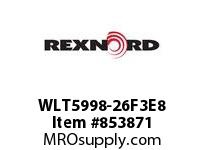 REXNORD WLT5998-26F3E8 WLT5998-26 F3 T8P N2 WLT5998 26 INCH WIDE MATTOP CHAIN W