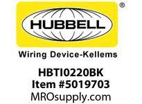 HBL_WDK HBTI0220BK WBPREFORM RADI INTER 2^Hx20^W BLACK
