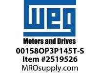 WEG 00158OP3P145T-S 1.5HP 1800 3 60 200V ODP-High Eff