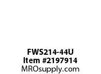 PTI FWS214-44U 4-BOLT FLANGE BEARING-2-3/4 FWS 200 SILVER SERIES - NORMAL DUTY