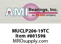 AMI MUCLP206-19TC 1-3/16 STAINLESS SET SCREW TEFLON L BLOCK SINGLE ROW BALL BEARING