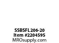 PTI SSBSFL206-20 SS 2-BOLT FLANGE BEARING-1-1/4