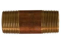 MRO 40106 1 X 4-1/2 RED BRASS NIPPLE