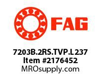 FAG 7203B.2RS.TVP.L237 SINGLE ROW ANGULAR CONTACT BALL BEA
