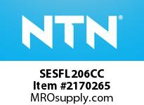 NTN SESFL206CC Stainless-Oval flanged unit