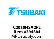 US Tsubaki C2080HSA2RL C2080H SA-2 ROLLER LINK