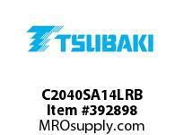 US Tsubaki C2040SA14LRB C2040 RIV 4L/SA-1