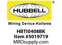 HBL_WDK HBTI0408BK WBPREFORM RADI INTER 4^Hx8^W BLACK