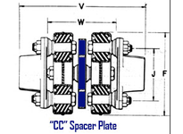 Morse 012933 802 MORFLEX CC SPACER PLATE MORFLEX COUPLING