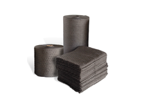 MBT GFMFL150 Gray fine fiber absorbent rolls have a surface texture similar to tissue paper which is great for gripping smooth surfaces like cement and for removing the sheen from slick : non-aggressive fluids which includes oil (hydrocar