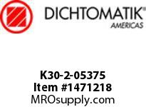 Dichtomatik K30-2-05375 PISTON SEAL PTFE SQUARE CAP PISTON SEAL WITH NBR 70 DURO O-RING INCH