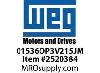 WEG 01536OP3V215JM 15HP 3600 3 60 200/400V Close C.-ODP