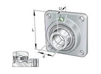 INA PCJ25N Four-bolt flanged unit