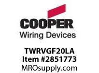 CPR-WDK TWRVGF20LA TAMP/WEATHER RESIST 20A GFCI LGHT ALMOND