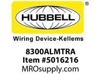 HBL_WDK 8300ALMTRA HUBBELL-PRO HG DPLX 20A/125V TR AL
