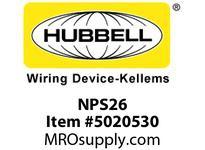 HBL_WDK NPS26 WALLPLATE 1G DEC SNAP-ON BROWN