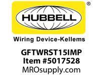 HBL_WDK GFTWRST15IMP 15A IVORY GFR TRWR ST MID SZ PL