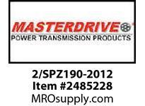 MasterDrive 2/SPZ190-2012 2 GROOVE SPZ SHEAVE
