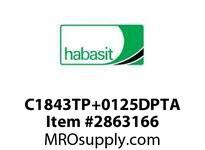 "Habasit C1843TP+0125DPTA 1843 Tab 1.25"" Top Plate Acetal"
