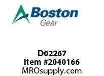 Boston Gear D02267 SF852BR-8K-B7 SPEED REDUCER