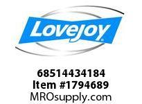 LoveJoy 68514434184 E BUSHING 3-1/4 3/4X1/8 KW