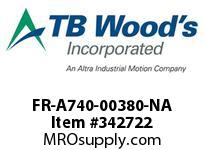 TBWOODS FR-A740-00380-NA CT INVERT 25HP(ND)20HP(HD)480V