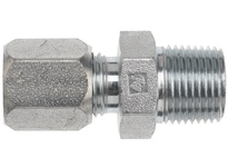 "DIXON FLC2404-06-08 3/8"" Male Tube OD x 1/2"" Male NPTF Steel Adapter Flareless Bite Ftg"