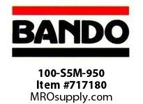 Bando 100-S5M-950 SYNCHRO-LINK STS TIMING BELT NUMBER OF TEETH: 190 WIDTH: 10 MILLIMETER