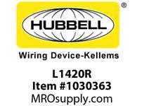 HBL-WDK L1420R LKG RECP 20A 125/250V SELSPEC L14-20R