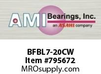 AMI BFBL7-20CW 1-1/4 NARROW SET SCREW WHITE 3-BOLT BS SINGLE ROW BALL BEARING