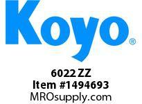 Koyo Bearing 6022 ZZ SINGLE ROW BALL BEARING
