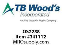 TBWOODS OS2238 OS22X3/8 FHP SHEAVE