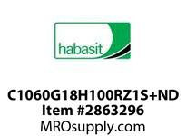 "Habasit C1060G18H100RZ1S+ND 1060/1061-18T X 1"" Split Sprocket with Keyway and Setscrew"