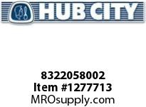 HubCity 8322058002 CUP BEARING (P2) L44610 OR EQ