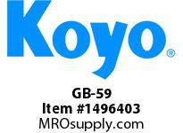Koyo Bearing GB-59 NEEDLE ROLLER BEARING DRAWN CUP FULL COMPLEMENT