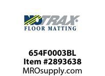 NoTrax 654F0003BL Anti-Fatigue 3/4^ Thick Nitrile Rubber