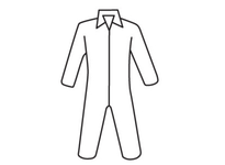 West Chester 3700/XXXXXL Posi-Wear UB - White Coverall zipper front and collar